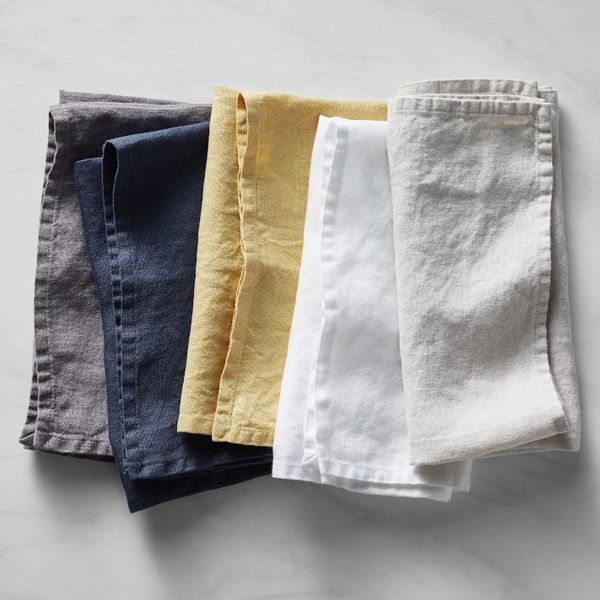 Williams Sonoma Italian Washed Linen Napkins, Set of 4