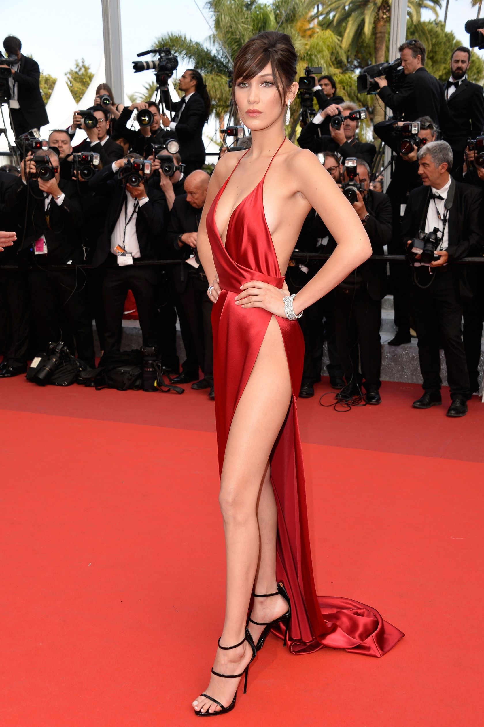 Bella Hadid In Alexandre Vauthier At The Cannes Film Festival Photo