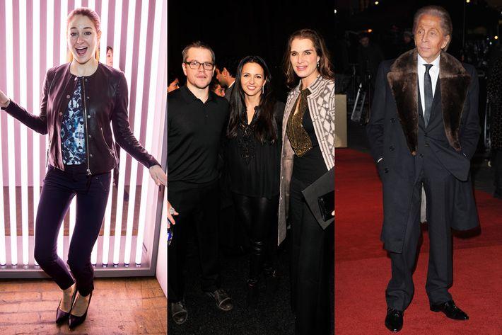 Shailene Woodley, Matt Damon, Valentino.