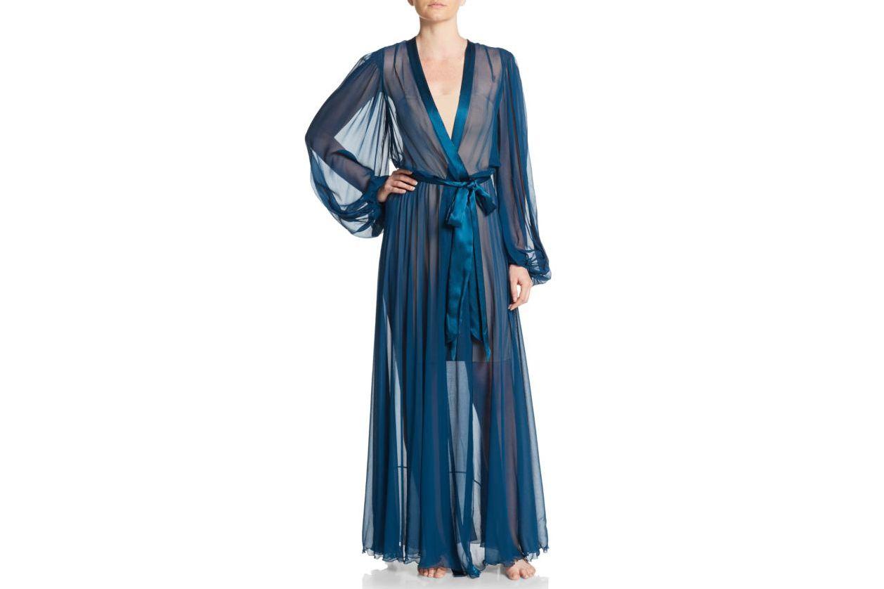 Jenny Packham Silk-Chiffon Robe