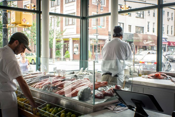 The fish counter at Greenpoint Fish & Lobster Co.