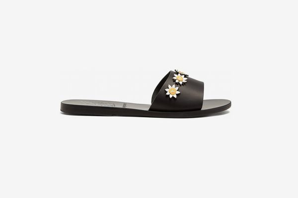 Ancient Greek Sandals x Fabrizio Viti Paola embellished leather slides