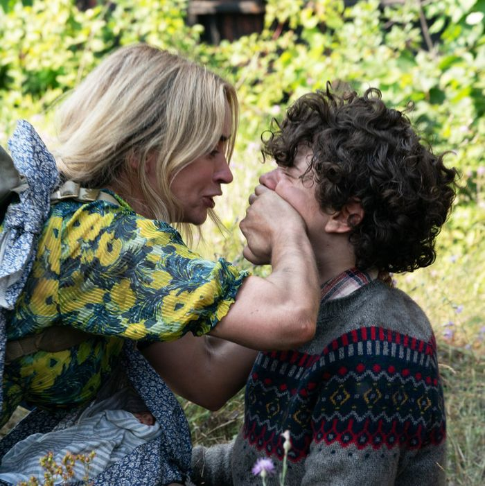 Emily Blunt and Noah Jupe in A Quiet Place Part II.