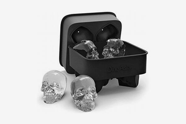 Dine Asia 3D Skull Flexible Silicone Ice Cube Mold Tray