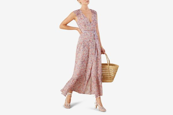 Reformation Haven Wrap Maxi Dress