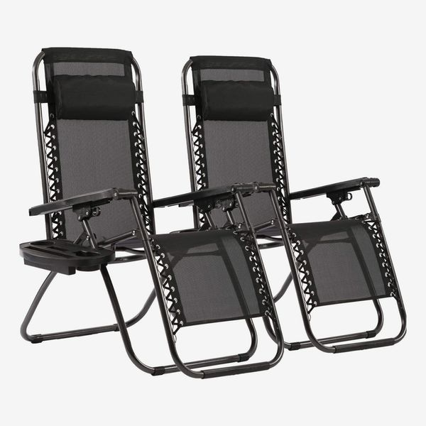 Zero Gravity Lounge Chairs With Pillow and Cup Holder