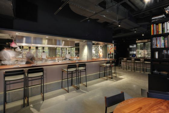 The spiffy new dining counter and stools: extra-roomy, with back support.
