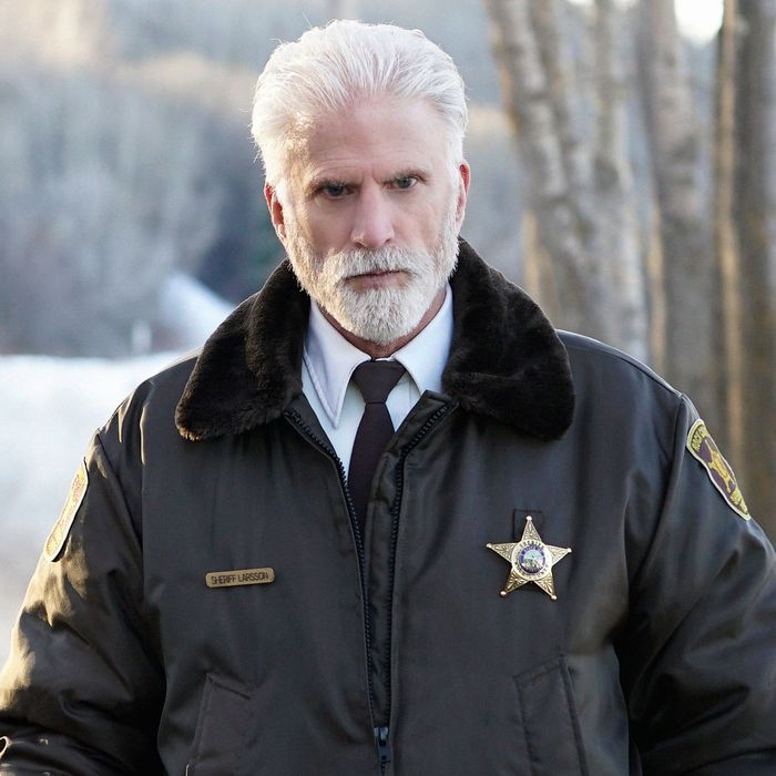 "FARGO -- ""Before The Law"" -- Episode 202 (Airs October 19, 10:00 pm e/p) Pictured: Ted Danson as Hank Larsson.CR: Chris Large/FX"