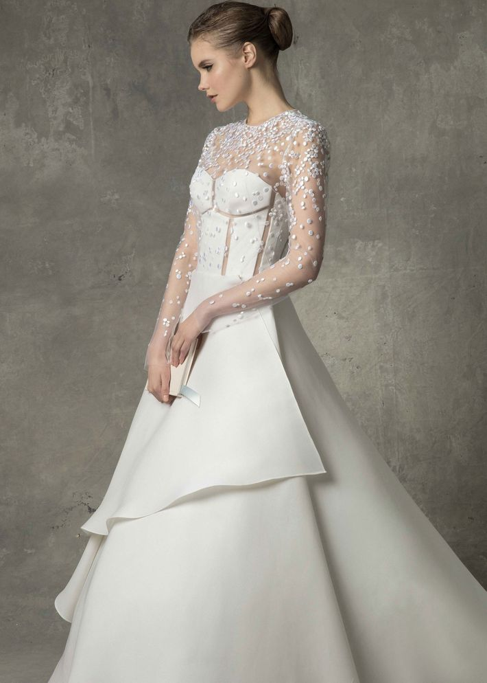 23 elegant long sleeve wedding dresses for winter weddings angel sanchez gown price upon request at angel sanchez junglespirit Gallery