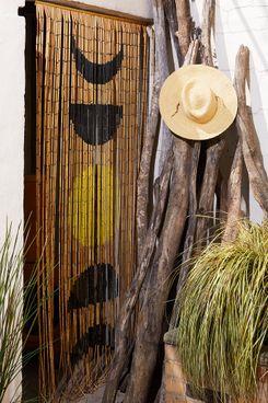Moon Phase Bamboo Beaded Curtain