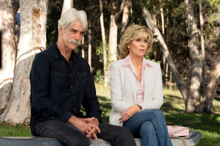 Sam Elliott as Phil, Jane Fonda as Grace.