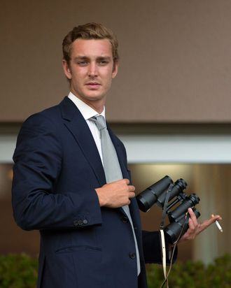 Pierre Casiraghi, on the mend.