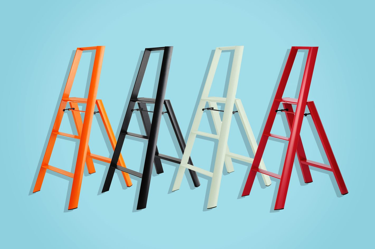 hasegawa lucano 3 step aluminum ladder - strategist best home decor and best ladder