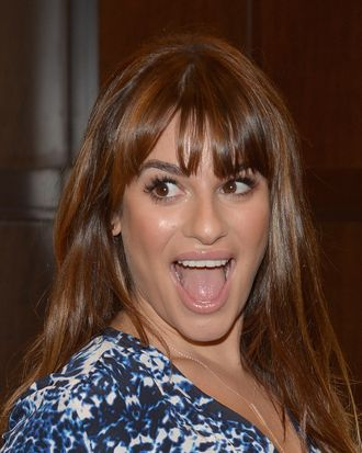 LOS ANGELES, CA - MAY 22: Actress Lea Michele signs copies of her new book