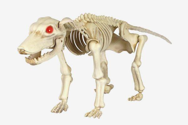 Home Accents Holiday 11 in. Animated Skeleton Dog With LED Illuminated Eyes