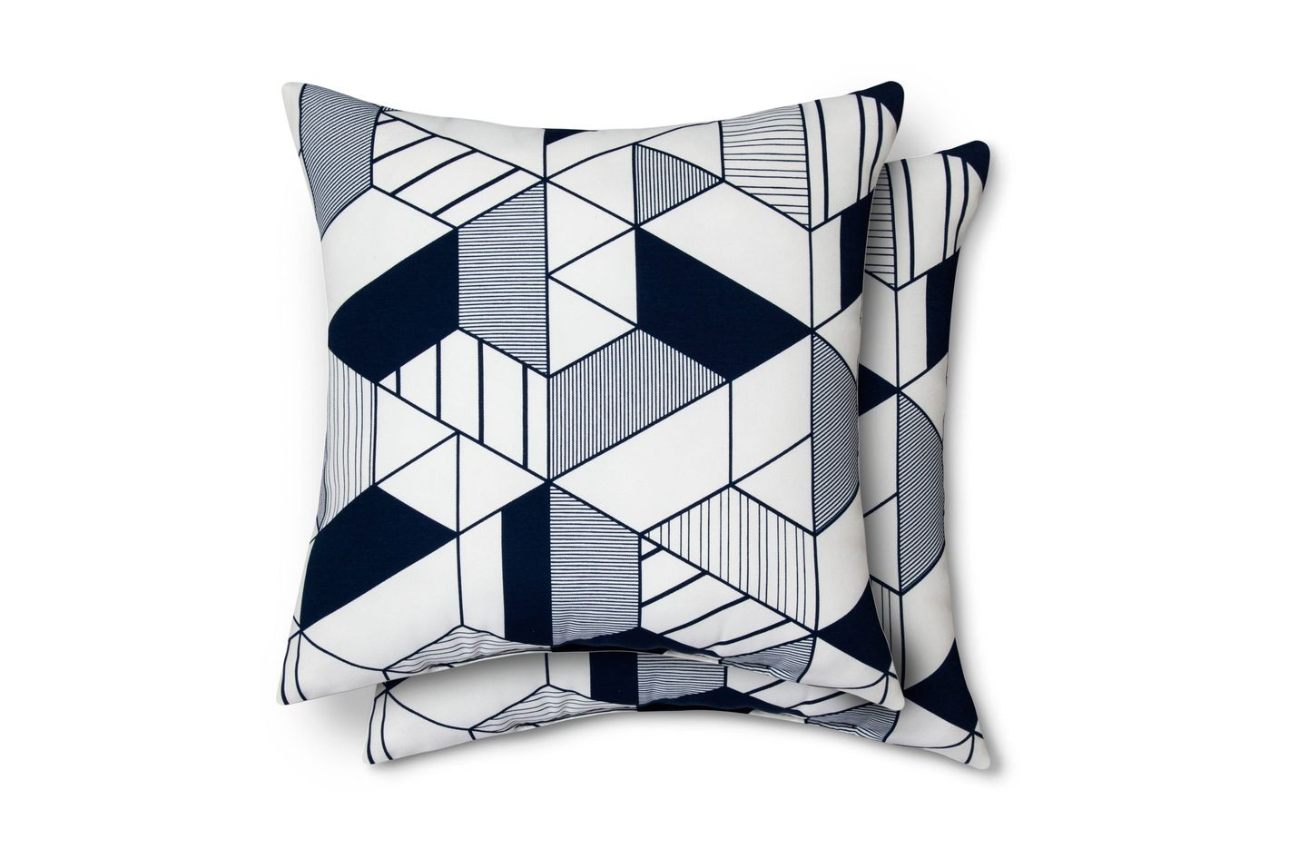 Modern by Dwell Magazine Geo Pillow Navy, Pack of 2