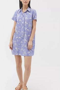 UO Wismer Printed Mini Shirt Dress