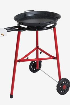 Mabel Home Paella Pan, Burner, and Stand Set on Wheels, 18-inch