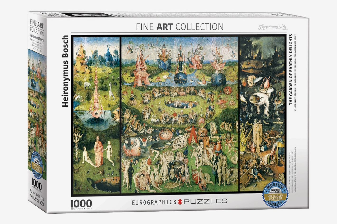 """Hieronymus Bosch """"The Garden of Earthly Delights"""" 1000-Piece Puzzle"""