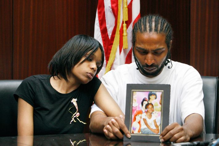 Mother, Dominika Stanley, and father, Charles Jones, of 7-year-old Aiyana Jones, who was shot in her home back in 2010.