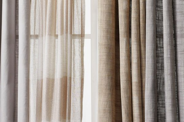Linen Grommet Sheer Curtain Panel
