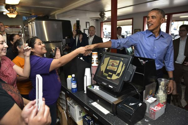 Of Course Obama Stopped for Tacos in Texas Today