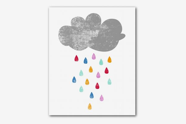 Rainbow Rain Print, 8x10 Inches