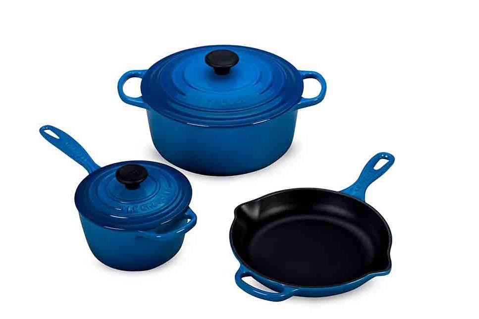 Le Creuset 5-Piece Cast Iron Cookware Set