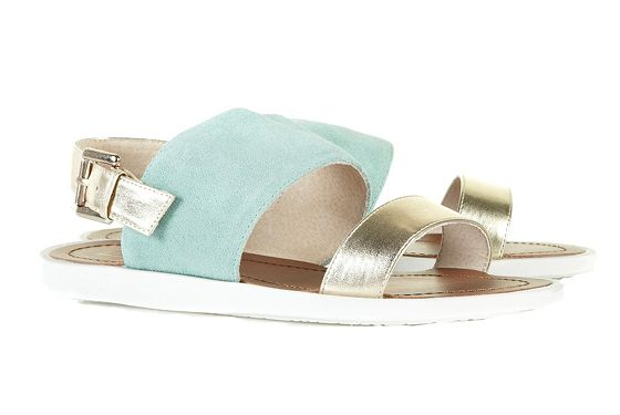 "Topshop HALLY Mint Sporty Sandals, $56, <a href=""http://us.topshop.com/webapp/wcs/stores/servlet/ProductDisplay?beginIndex=0&viewAllFlag=&catalogId=33060&storeId=13052&productId=5342144&langId=-1&sort_field=Relevance&categoryId=208694&parent_categoryId=208581&pageSize=20&refinements=category~[210018