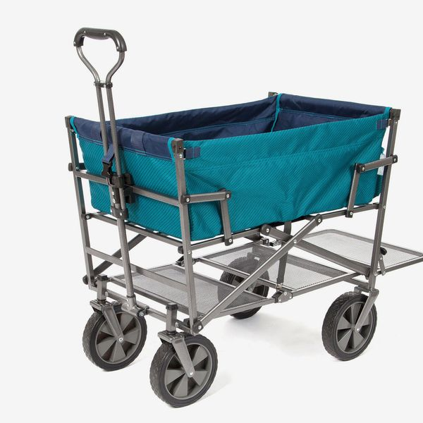 MacSports Collapsible Double Decker Outdoor Utility Wagon, Teal