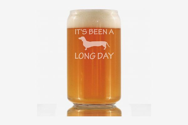 Bevvee Long Day Funny Beer Can Pint Glass
