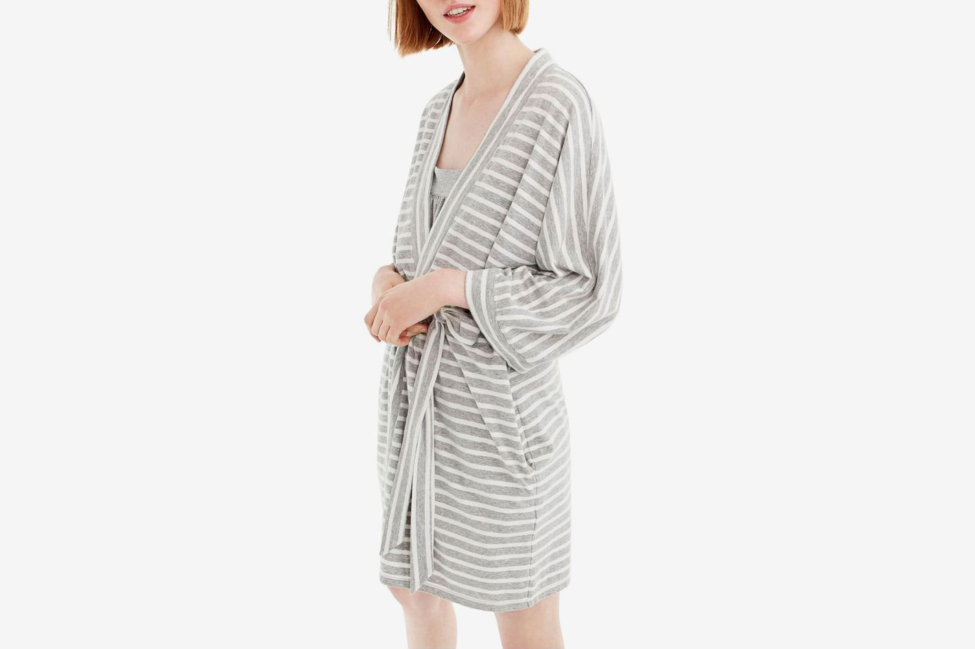 J.Crew Stripe Stretch Cotton Robe