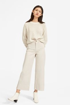 Everlane Lightweight Wide Leg Crop Chino Pants