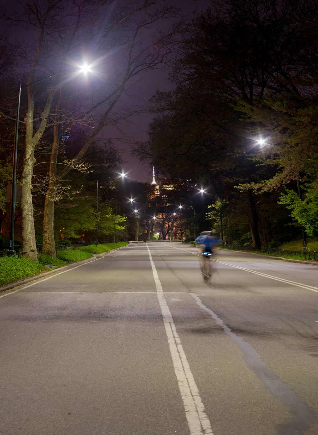 Great night lamps - Central Park S East Drive Before And After The Installation Of New Led Streetlights