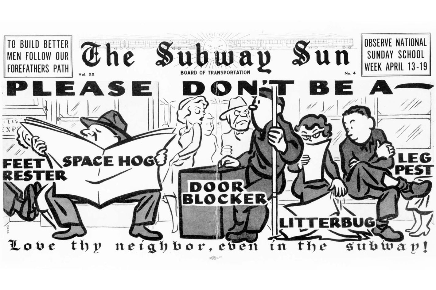 See vintage manspreading ads and more from the 40s and 50s see vintage manspreading ads and more from the 40s and 50s subway courtesy campaign biocorpaavc Gallery