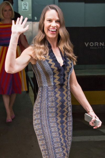 Hilary Swank Dines at Tamarind; J.K. Simmons Digs in at Virgil's