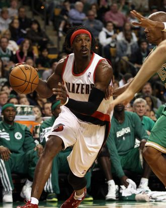 Gerald Wallace #3 of the Portland Trail Blazers.