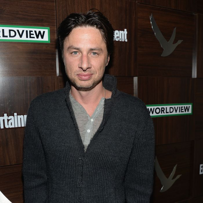 Actor Zach Braff attends the GREY GOOSE Blue Door Hosts