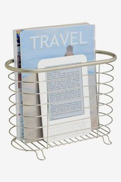 mDesign Decorative Metal Farmhouse Magazine Holder