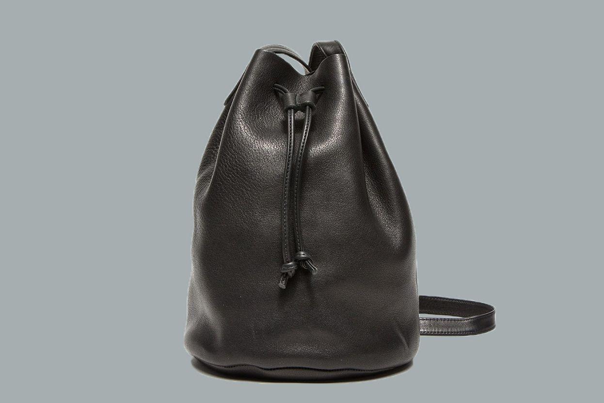 Baggu Leather Drawstring Purse