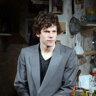 NEW YORK, NY - FEBRUARY 28: Actor Jesse Eisenberg takes his bow at