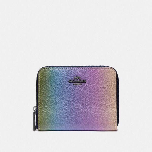 rainbow coach zip around wallet coach-summer-sale