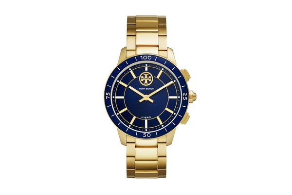 ToryTrack Hybrid Smartwatch, Gold-tone Stainless Steel/Navy