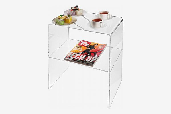 My Gift Modern Design Clear Acrylic Decorative End Table