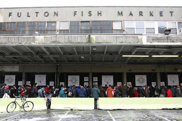 The old Fulton Fish Market.