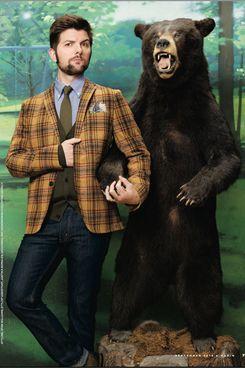 Adam Scott, plus bear.