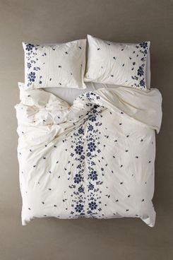 Samantha Embroidered Floral Duvet Cover