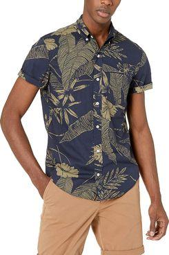 J.Crew Mercantile Slim-Fit Short-Sleeve Tropical Shirt