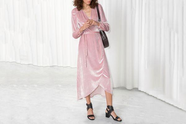 & Other Stories Velvet Dress