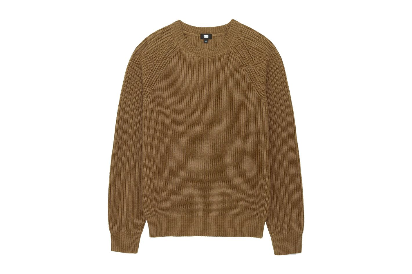 Uniqlo Men's Ribbed Crewneck Long-Sleeve Sweater